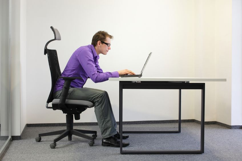 Computer posture example
